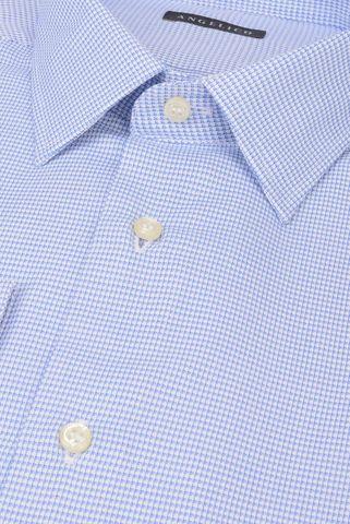 Camicia azzurra armaturata comoda Angelico