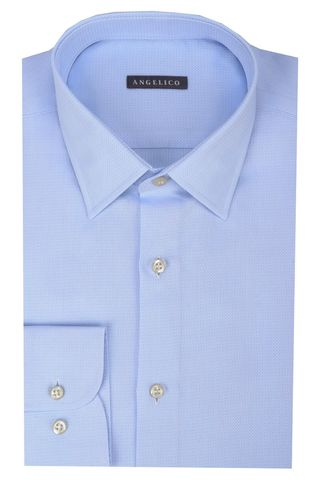 Light blue structured cotton Angelico