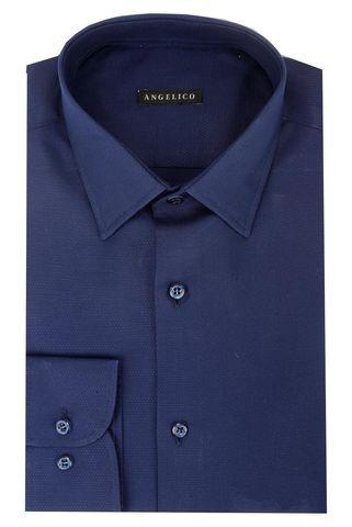 Camicia blu armaturata Angelico