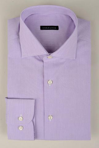 Mauve shirt fine stripes Angelico