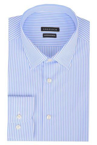 Light blue shirt medium stripes Angelico