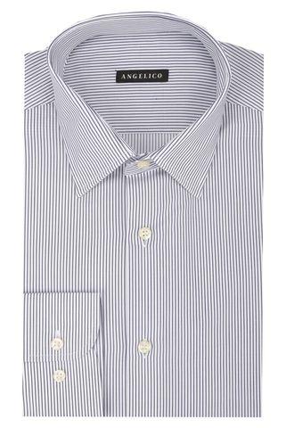 Camicia bianca riga blu Angelico