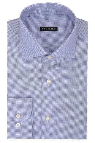 bluette-white shirt micro-circles Angelico