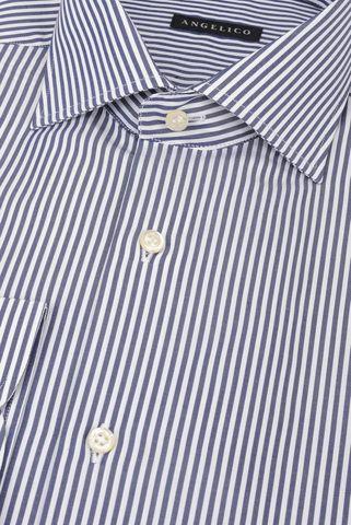 Camicia rigata blu Angelico