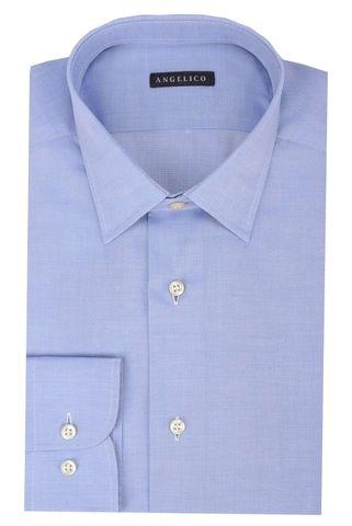 Lighe blue shirt polkadots pattern slim Angelico
