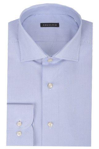 Camicia azzurra armatura bacchette slim Angelico
