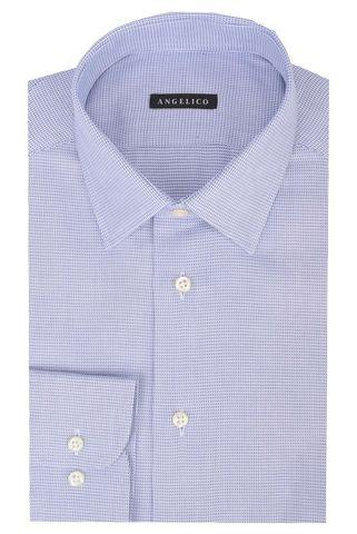 Camicia bluette armaturata slim Angelico