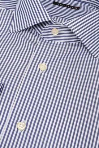 navy-white shirt medium stripes slim Angelico