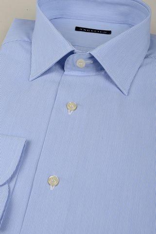 Light blue shirt fine stripes slim Angelico