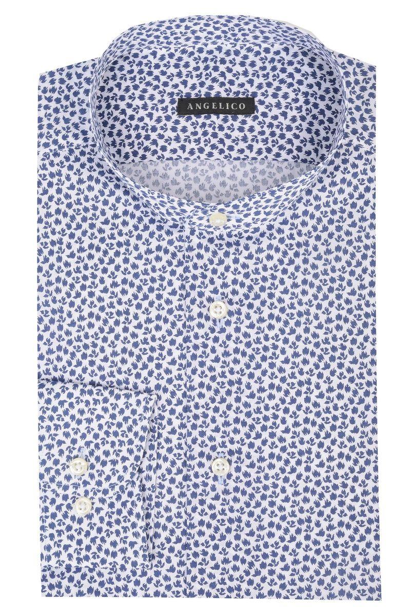 low priced e97b8 09124 Angelico Camicia blu coreana fantasia fiori slim, camicie da ...