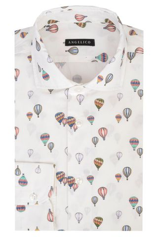 White shirt hot-air balloon slim Angelico