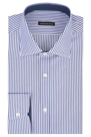 Camicia bluette rigata media Angelico