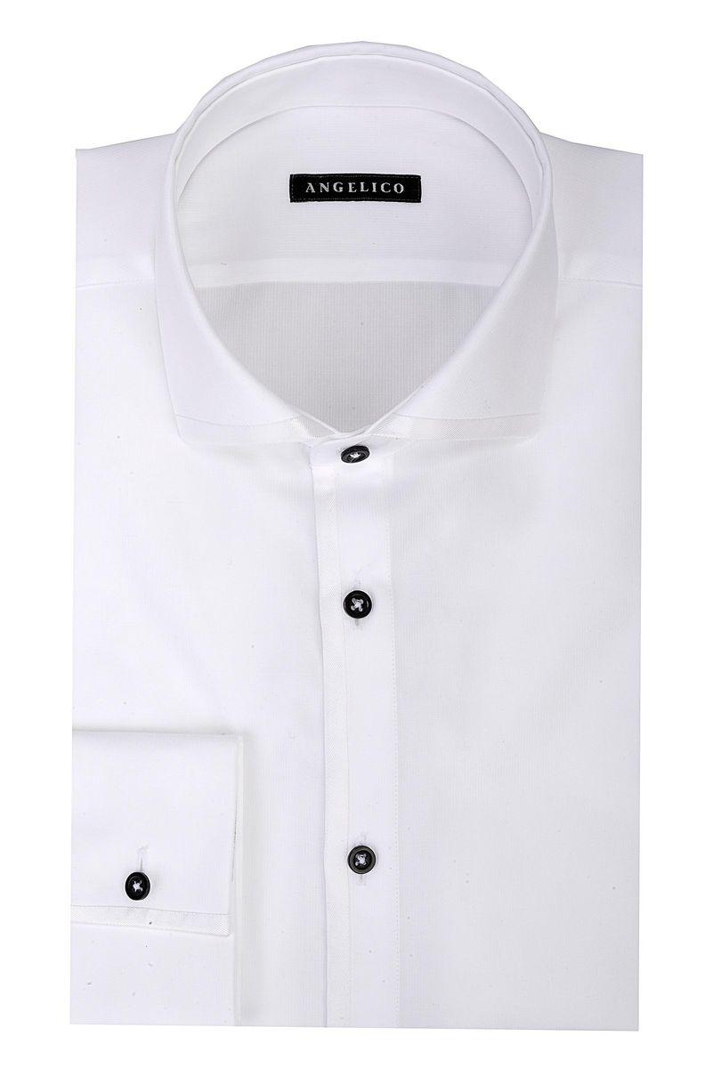 info for 6ce68 bf92d Angelico Camicia bianca cerimonia bottoni blu slim, camicie ...