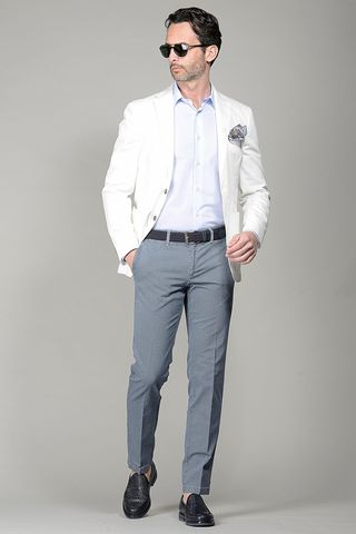 white jacket stretch slim Angelico