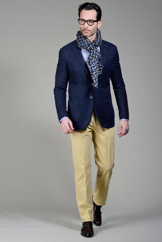 Blue jacket twisted pattern slim Angelico