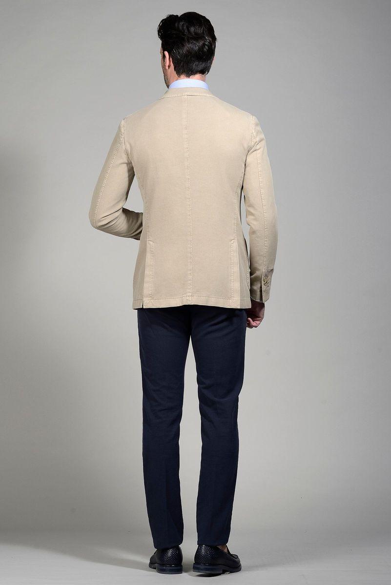 Giacca beige cotone armaturato slim Angelico