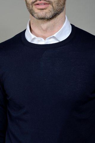 navy sweater round-neck Angelico