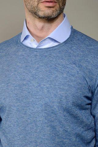 blue pullover slub cotton Angelico