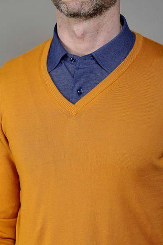 yellow sweater v-neck Angelico