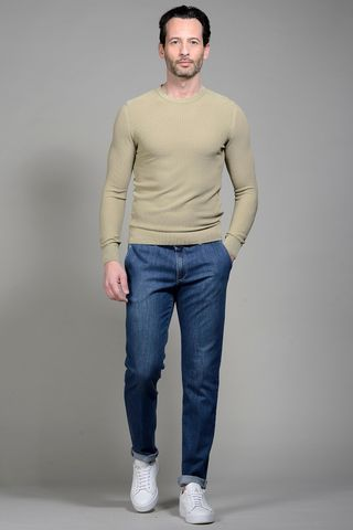 Beige cotton pullover Angelico