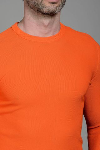 coral cotton pullover Angelico