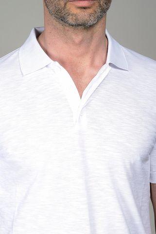 polo bianca jersey fiammato Angelico