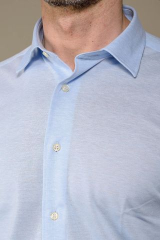 azure polo oxford long sleeves slim Angelico