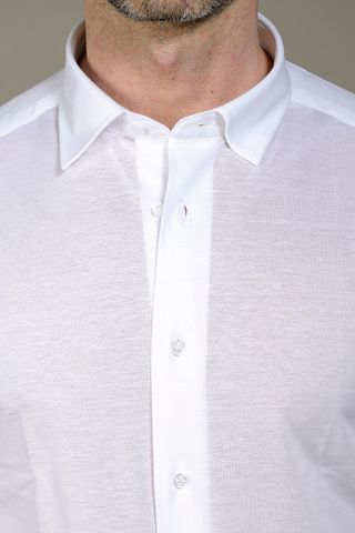 white polo oxford long sleeves slim Angelico