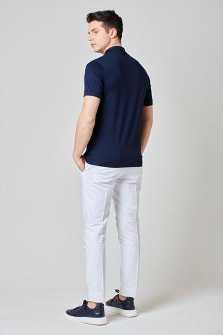 Polo blu jersey Filo Scozia Angelico