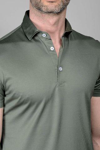 army grey polo lisle jersey