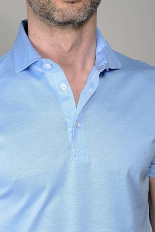 light blue polo lisle jersey Angelico