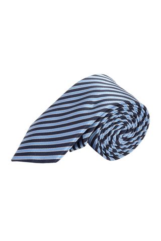 Navy-lighe blue tie regimental pattern Angelico