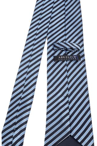 cravatta blu-azzurra regimental Angelico