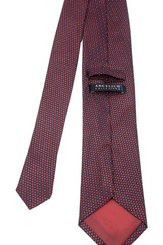 cravatta rosso-blu pallini seta Angelico