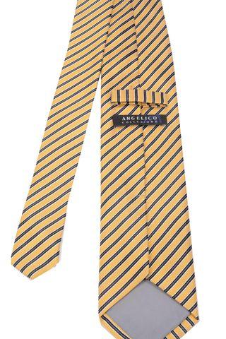 yellow tie fine blue stripes Angelico