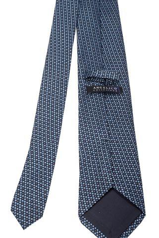 Cravatta blu pallini azzurri Angelico