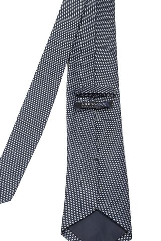 navy tie with grey rhombus Angelico