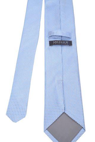 Cravatta azzurra microquadretto Angelico