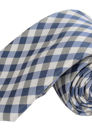 navy-white tie checkered pattern Angelico