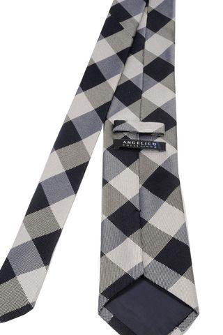 grey-black tie scottish pattern Angelico