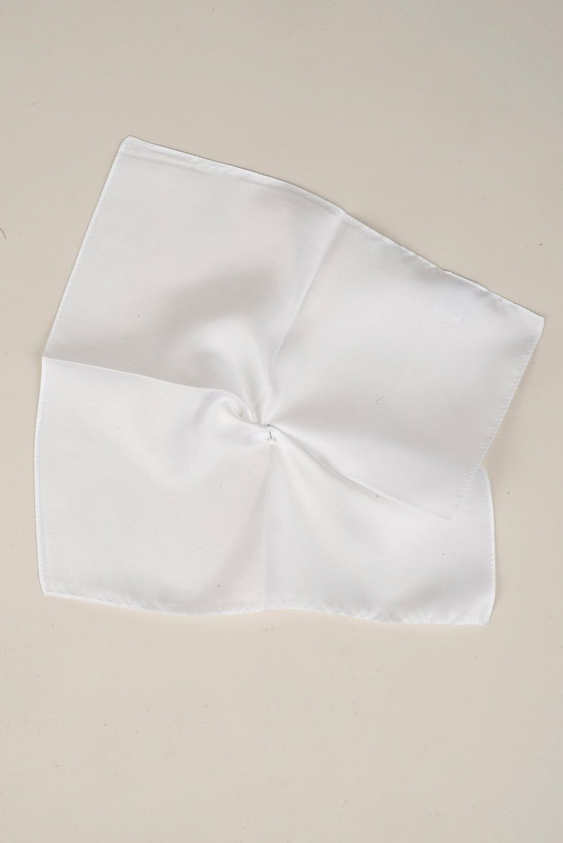 pochette bianca seta Angelico