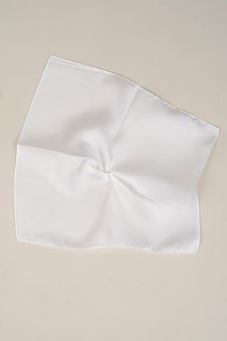white silk pocket square Angelico