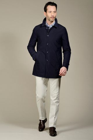 reversible blue-gray raincoat Angelico