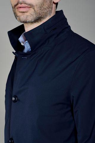 navy raincoat Angelico