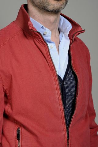 giubbotto rosso cotone tinto capo Angelico