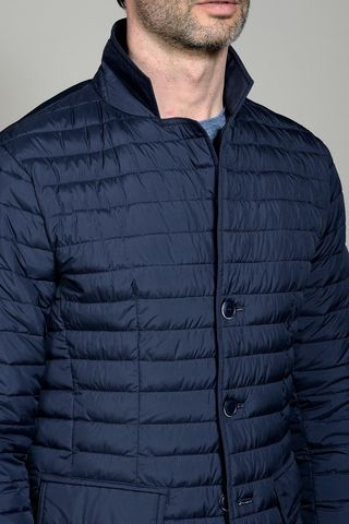 blue eco down jacket Angelico