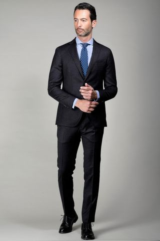 dark grey suit comfort fit Angelico