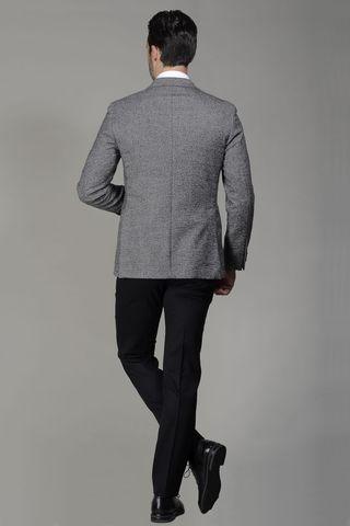 giacca grigia lana diagonale sfoderata Angelico