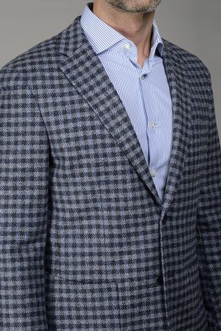 light blu-navy jacket checkered Angelico