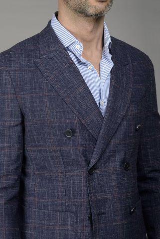 giacca blu galles doppiopetto slim Angelico